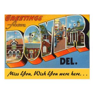 Grüße von Dover, Delaware Postkarte