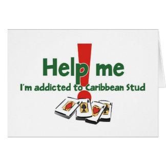 Grüße von einem karibischen Bolzen-Pokersüchtigen Karte