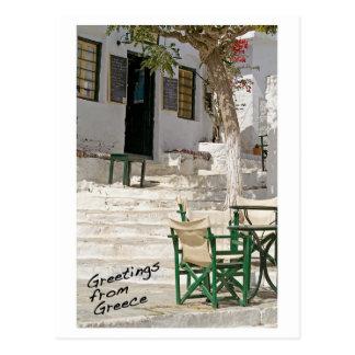 Grüße von Griechenland-Postkarte Postkarte
