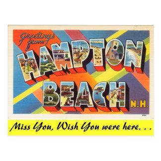 Grüße von Hampton-Strand Postkarte