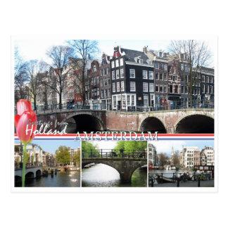 Grüße von Holland- - Amsterdam-Postkarte Postkarte