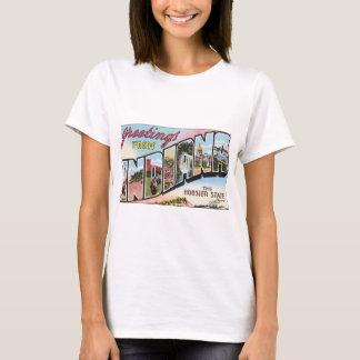 Grüße von Indiana der Hoosier-Staat, Vintag T-Shirt