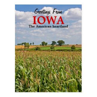 Grüße von Iowa-Postkarte Postkarte