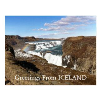 Grüße von Island-Postkarte Postkarte