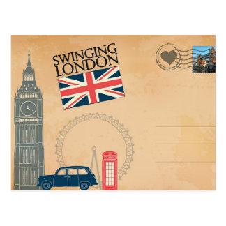 Grüße von London, Vereinigtes Königreich Postkarte