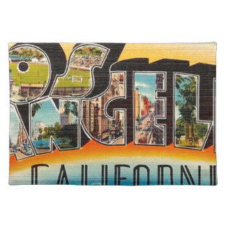 Grüße von Los Angeles Stofftischset