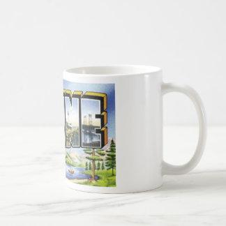 Grüße von Maine Kaffeetasse