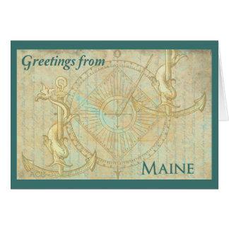 Grüße von Maine Karte