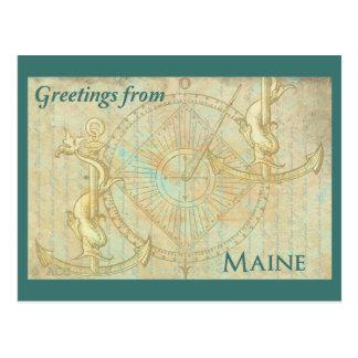 Grüße von Maine Postkarte