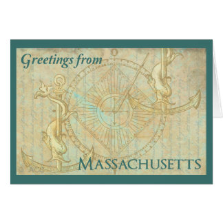 Grüße von Massachusetts Karte
