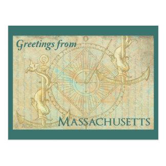 Grüße von Massachusetts Postkarte