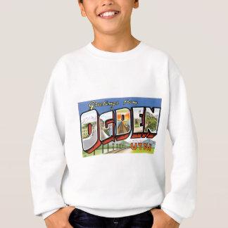 Grüße von Ogden, Utah! Retro Postkarte Sweatshirt