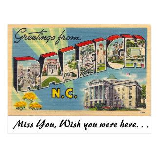 Grüße von Raleigh, North Carolina Postkarte