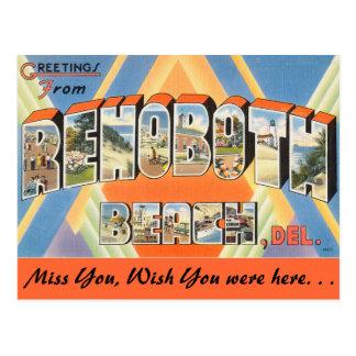 Grüße von Rehoboth Strand Postkarte
