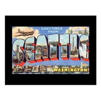Grüße von Reise Seattles Washington_Vintage Postkarte