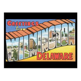 Grüße von Reise Wilmingtons Delaware_Vintage Postkarte