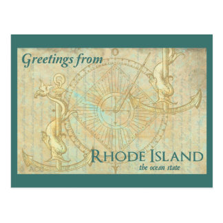 Grüße von Rhode Island der Ozean-Staat Postkarte