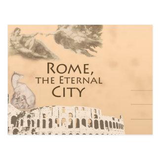 Grüße von römischer Colosseum Rom Italien Postkarte