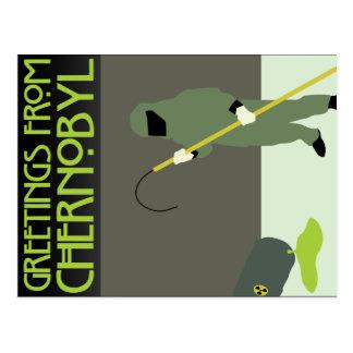 Grüße von Tschornobyl Postkarte