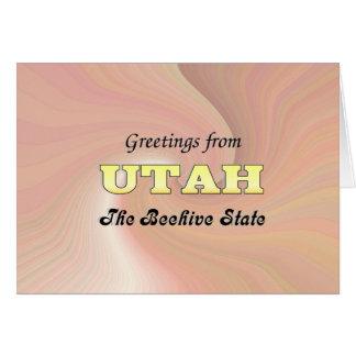 Grüße von Utah Karte