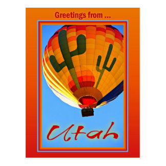 Grüße von Utah-Postkarte Postkarte