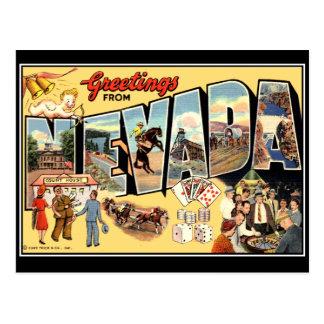Grüße von Vintager Postkarte Nevadas