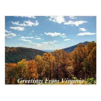 Grüße von Virginia-Postkarte 3 Postkarte