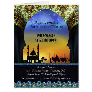 Grußkarte, arabische Nachtkarte, Teppich, 8.5x11 e Riesige Grußkarte
