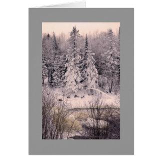 Grußkarte, löschen, mit Schnee-Szene Karte