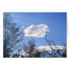 Grusskarte Schönwetterwolken, blanko Karte
