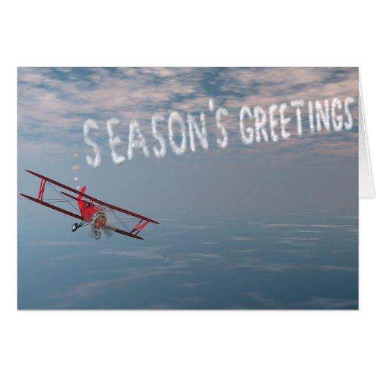 Grußkarte Skywriting Jahreszeit