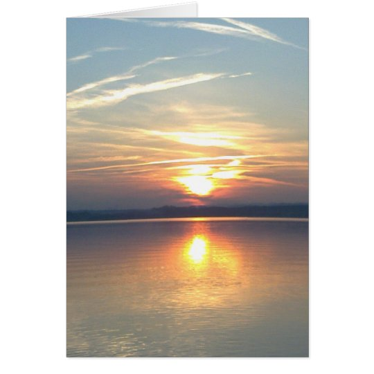 Grusskarte Sonnenuntergang, blanko, gestaltbar Karte