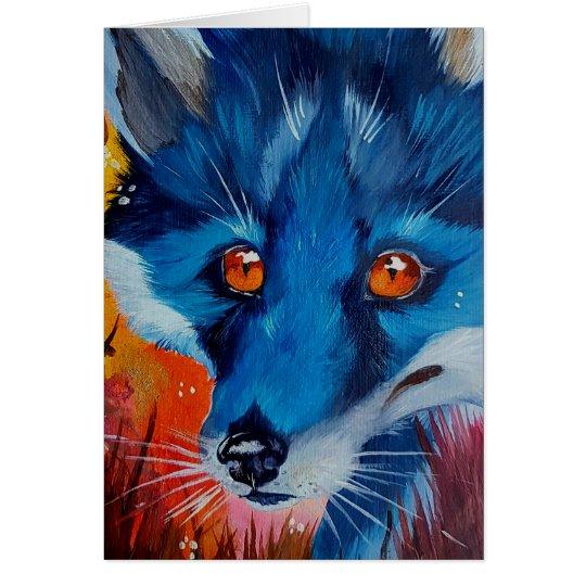 Grußkarten des schwarzen Fuchses