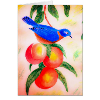 Grußkarten-Wasserfarbevogelmalerei Karte
