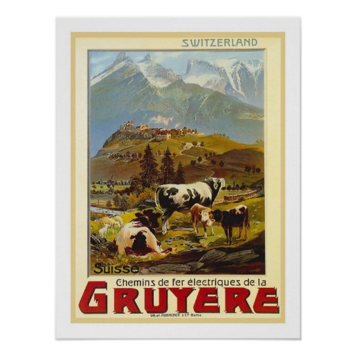 Gruyere-Vintage Reise Posterdrucke