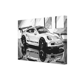 GT3 Black'n'White - Photoworks Jean-Louis Glineur Leinwanddruck