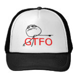 GTFO gehen Typ-Raserei-Gesichts-Comic Meme hinaus Netzkappen