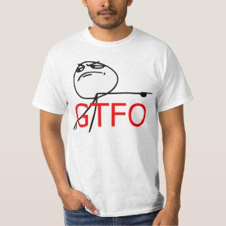 GTFO gehen Typ-Raserei-Gesichts-Comic Meme hinaus Tshirts