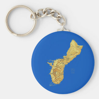 Guam-Karte Keychain Schlüsselanhänger