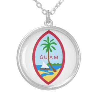 Guam-Wappen Versilberte Kette