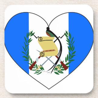 Guatemala-Flaggen-Herz Untersetzer