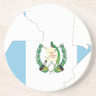 Guatemala-Flaggen-Karte Sandstein Untersetzer