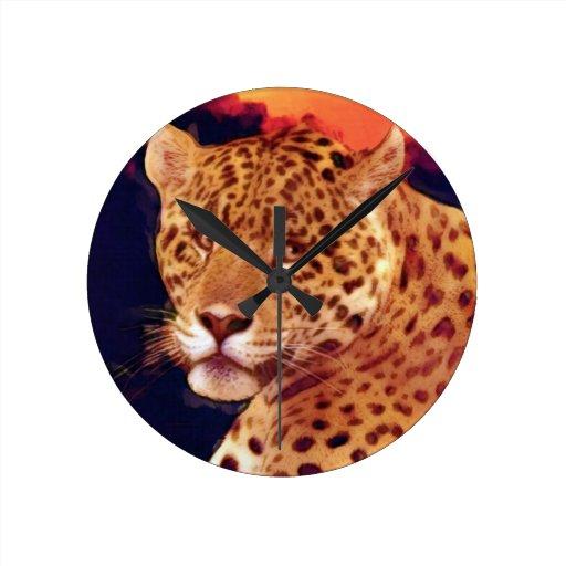Guatemalteke-Jaguar-Tier-Wanduhr