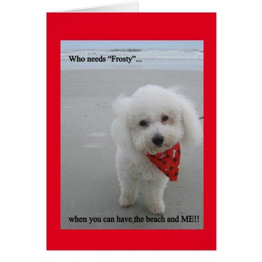Gucci am Strand - Gruß-Karte Grußkarte