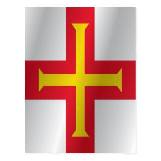 Guernsey-Flagge Postkarte