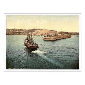 Guernsey, St Peter Hafen, Ankunft der Boote, Chan Postkarte