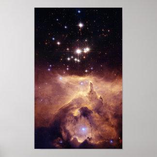 Guerre et paix NGC6357 de NASAs Affiche
