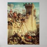 Guillaume De Clermont défendant Ptolemais Posters