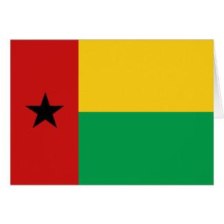 Guinea-Bissau Flagge Notecard Karte