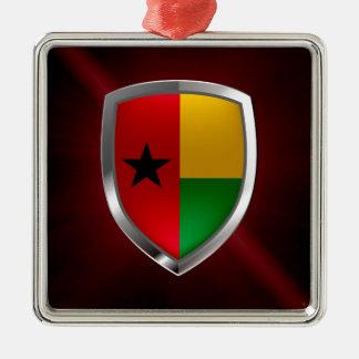 Guinea-Bissau Mettalic Emblem Silbernes Ornament